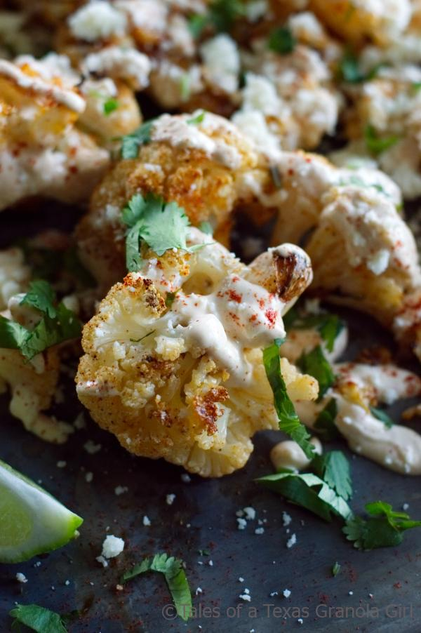 Mexican Street Style Grilled Cauliflower - Keto, Low Carb, Gluten Free