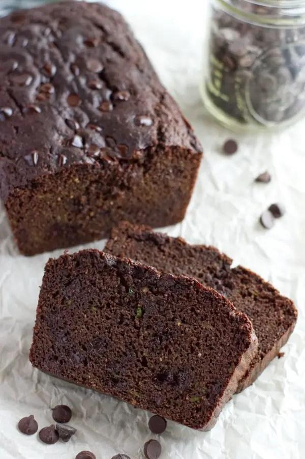 Slices  Keto Chocolate Zucchini Bread