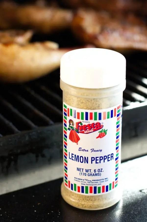 Bottle of Fiesta Brand Lemon Pepper