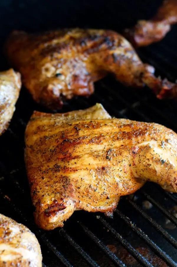Chicken Leg Quarter on the Grill