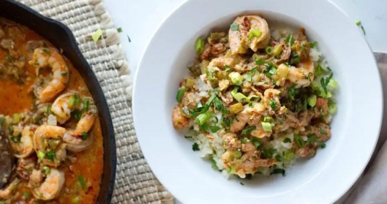 Keto Shrimp Etouffee with Crawfish