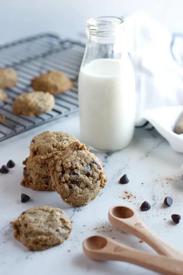 cowboy cookies with milk