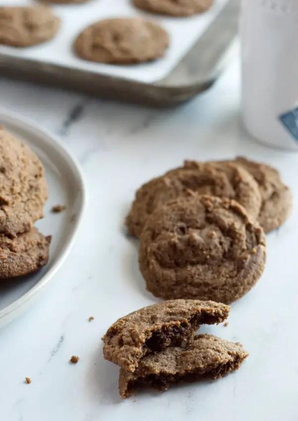 broken keto molasses cookie