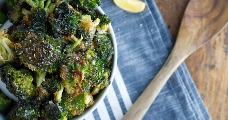 Keto Parmesan Roasted Broccoli