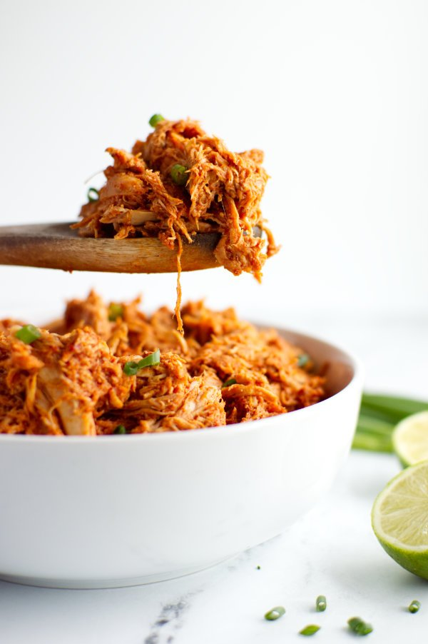 Spoonful of Mexican Shredded Chicken