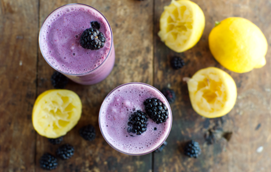 Keto Frozen Blackberry Lemonade