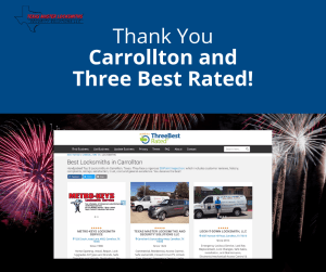 Three Best Award for Best Rated In Carrollton