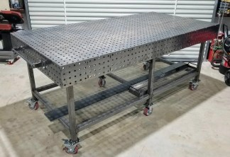 """Welding Table – 50″ x 100″ Fully Fabricated Weld Tables - Top, 26"""" Legs & Casters"""