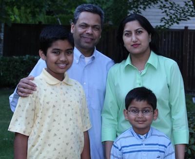 Darshan Rauniyar with his family