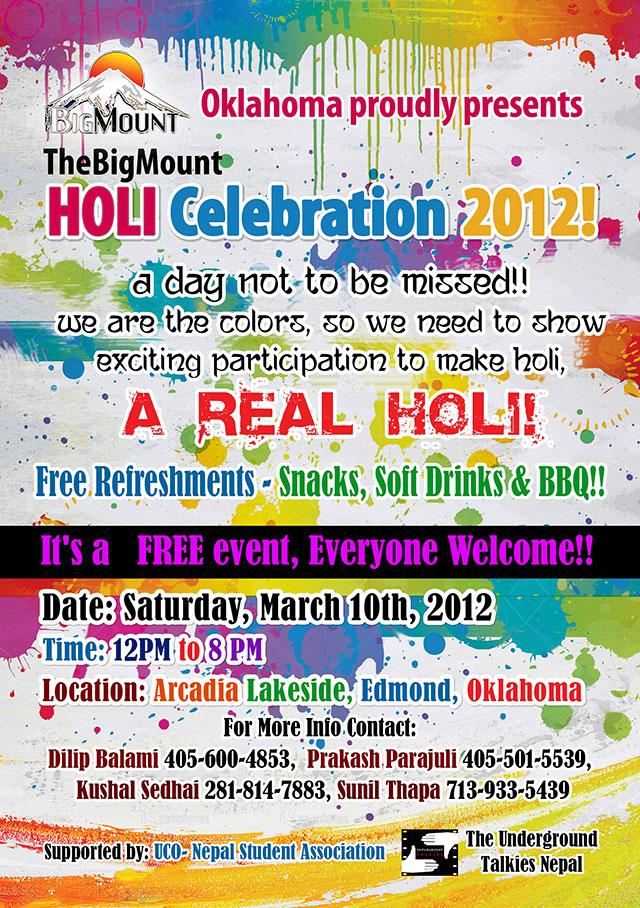 Holi Celebration 2012 TheBigMount Oklahoma