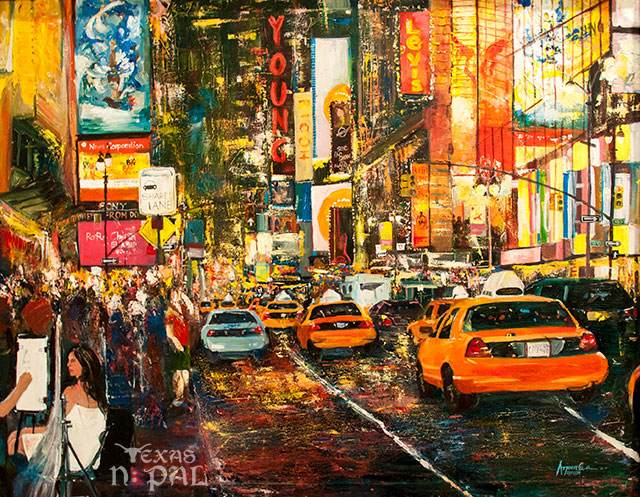 """Beyond the light, NY"" painting by Arjoon KC"