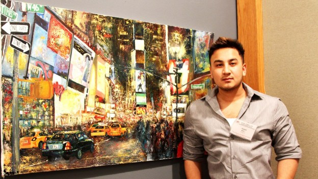 Arjoon KC awarded Outstanding Art Student from Dallas County Community College District