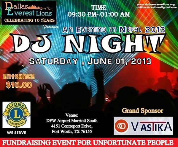 dallas-everest-lions-club-dj-night-2013