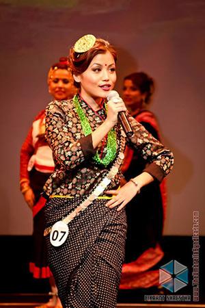 Bartika Rai at Miss Nepal US 2013 (Photo: Bikrant Shrestha)