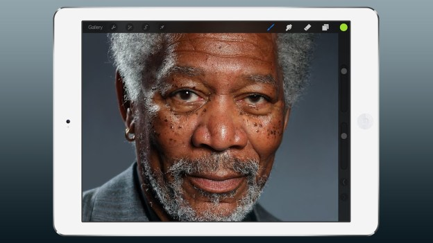 iPad Art – Morgan Freeman Finger Painting