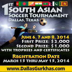 First South Asian Soccer Tournament to be held in Dallas, Texas