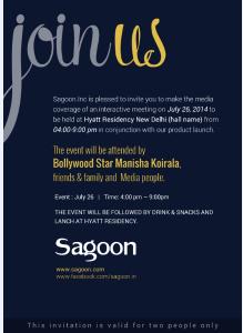 Sagoon launch in India