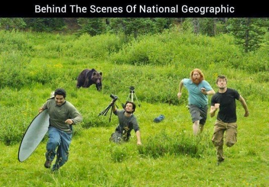 Behind the scene of National Geographic shoot
