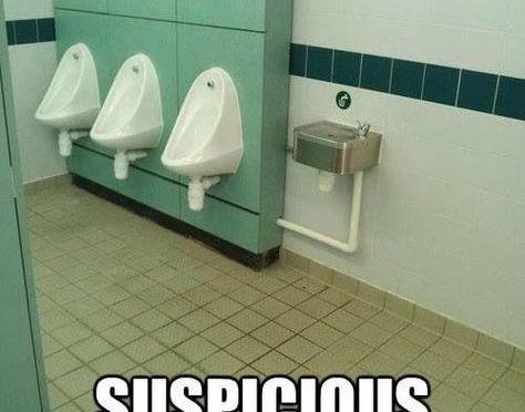 Suspicious fountain!