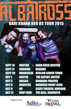 Albatross Gari Khana Deu US Tour '15 Headed  To Texas!