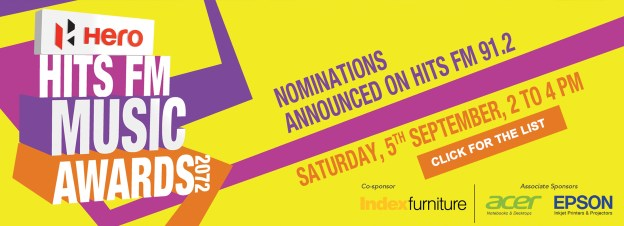 Nominees For Hero 19th Hits FM Music Awards Announced!