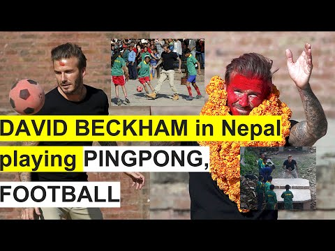 GLIMPSES: Football Legend David Beckham's Visit To Nepal