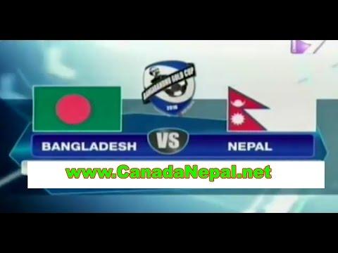 Nepal vs Bangladesh Bangabandhu Gold Cup 2016 Live From Dhaka
