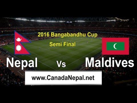 Nepal vs Maldives Semi-Final Bangabandhu Gold Cup 2016 Live From Dhaka