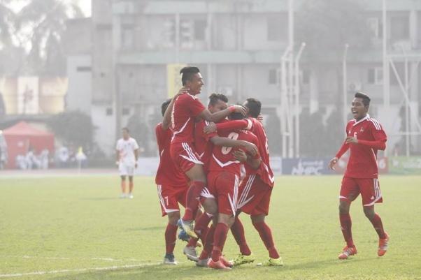 Nepal Beats Maldives 4-3 to enter Final in 12th SAG Men's Football