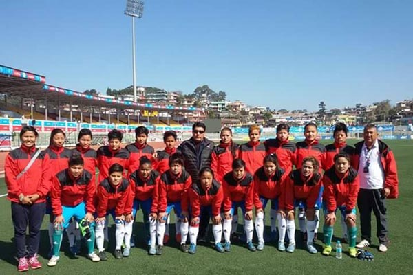 Nepal vs India women's football 12th SAG