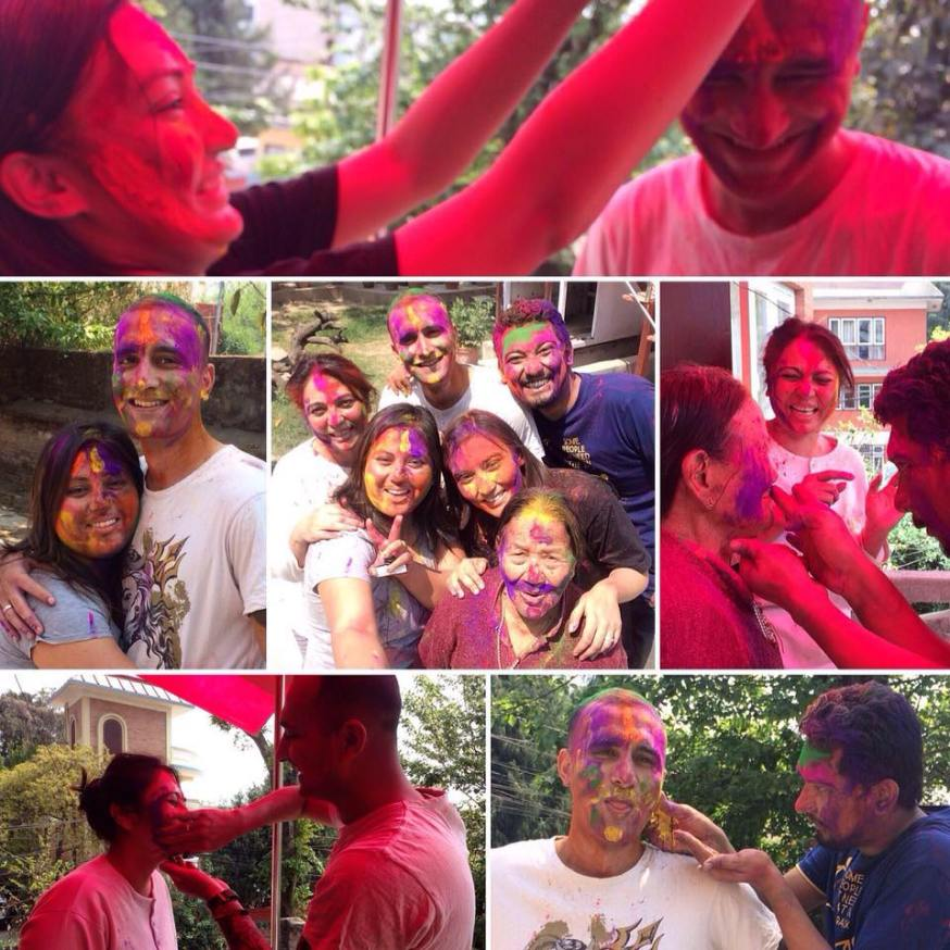 Holi 2016 celebration in Nepal
