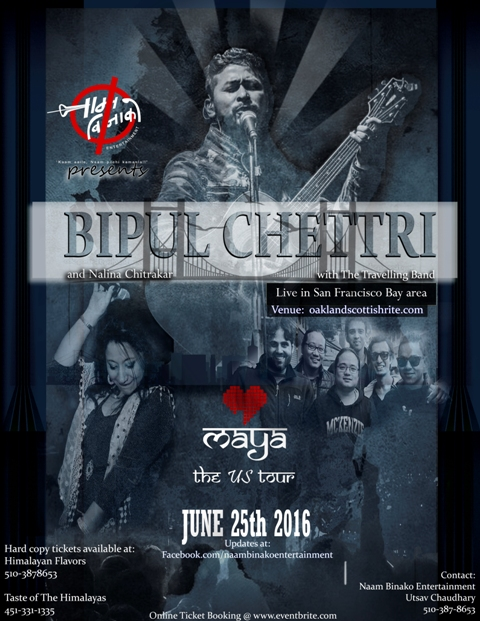 Bipul Chettri's Maya The US Tour 2016