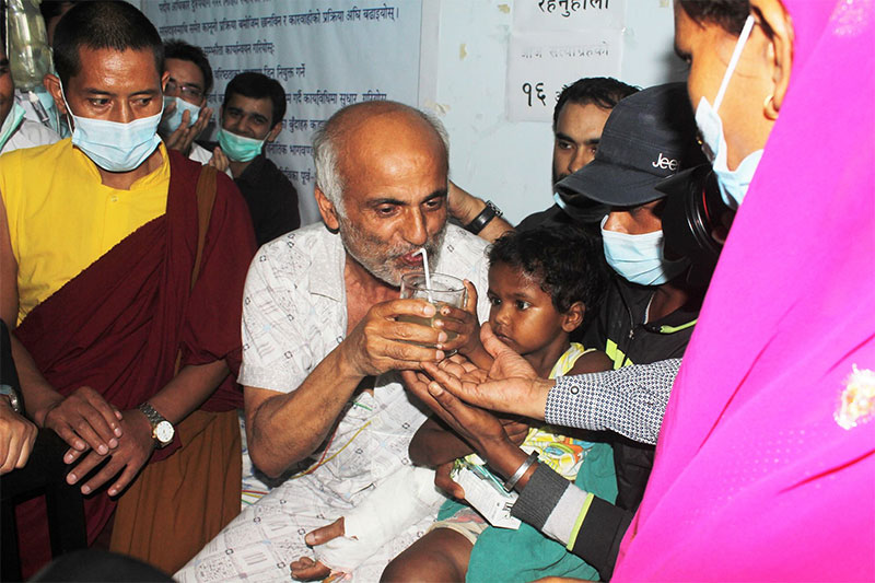 Dr Govinda KC Breaks Hunger Strike