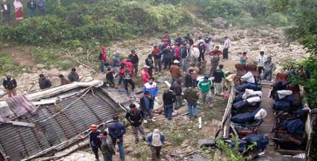 27 Killed, 39 Injured in Kavre Bus Accident