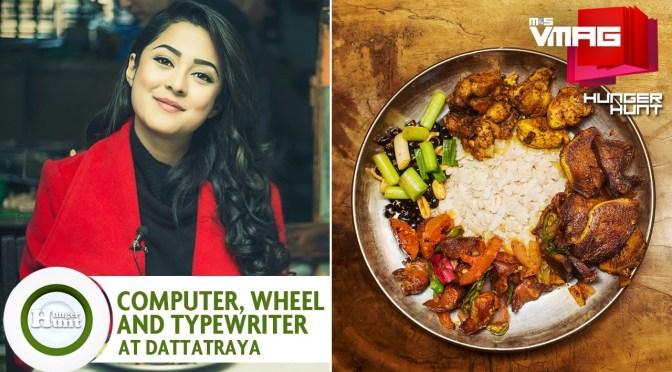 HUNGER HUNT: Computer, Typewriter, Wheel at Dattatraya Khaja Ghar