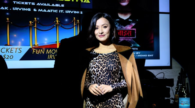 Namrata Shrestha in irving for screening of XIRA