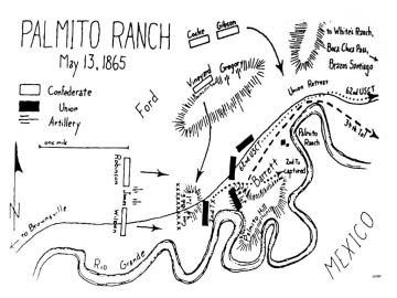 Battle of Palmito Ranch map