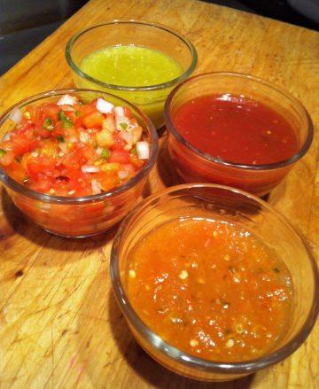 Four salsas
