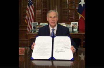Image result for greg abbott signs sanctuary bill