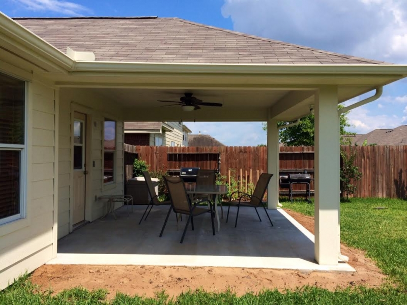 it cost to build a patio in houston texas