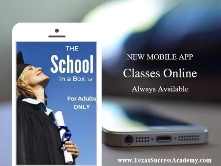 Take classes on your cell phone and earn our diploma.