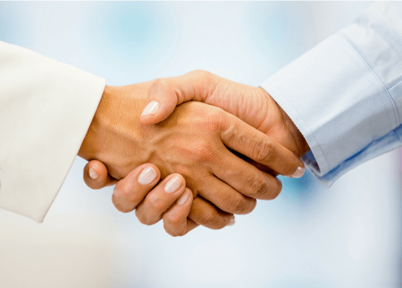 We believe the power of a good handshake.