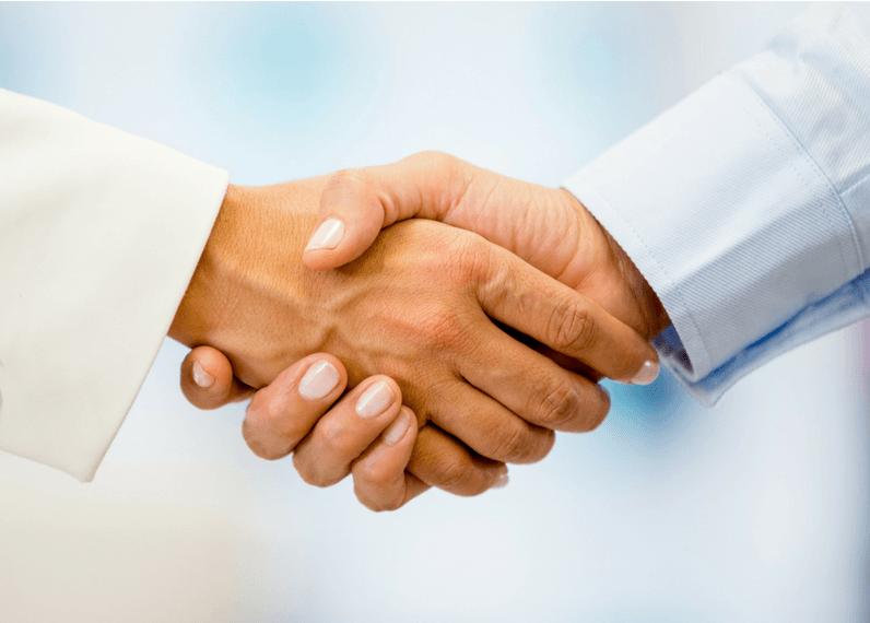We believe the power of a good handshake.