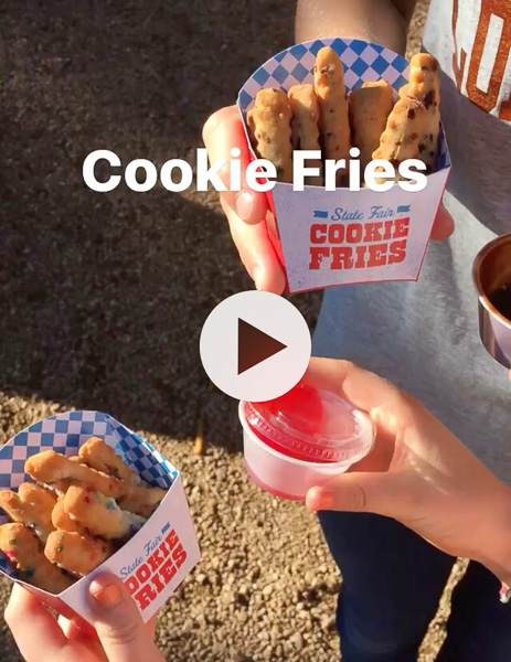 This pic of the cookie fries were from my Instagram story.