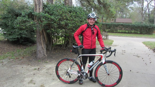 In the driveway with my new Stradalli RP-14 Carbon bike
