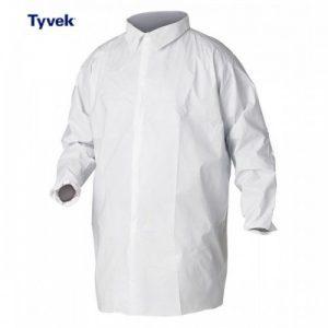 Camice da laboratorio con chiusura lampo Tyvek