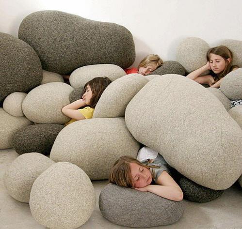 Καταπληκτικά μαξιλάρια βότσαλο από Smarin
