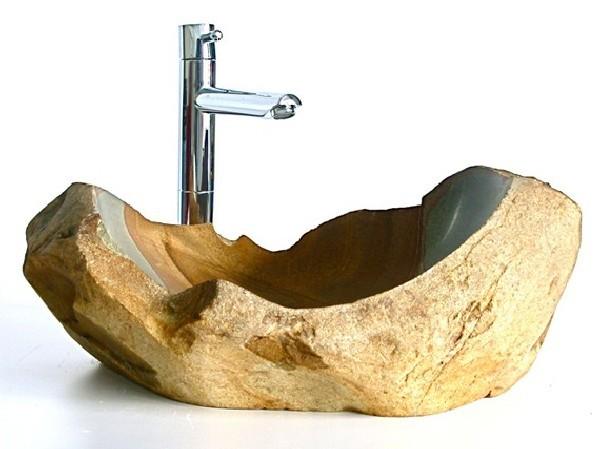 Νεροχύτες από φυσική  πέτρα για μοντέρνα μπάνια
