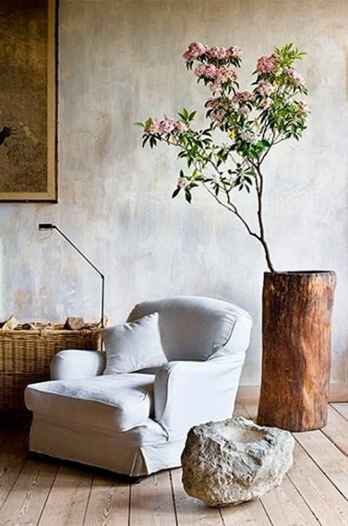 20 Δημιουργικές ιδέες διακόσμησης με κορμούς και κούτσουρα δέντρου