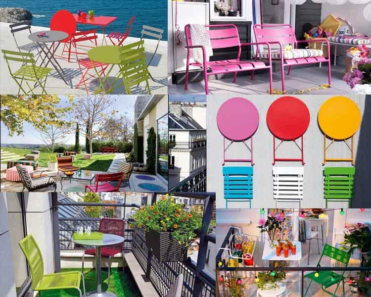 Ιδέες με Πολύχρωμες  Εξωτερικές Καρέκλες για Χαρούμενη Ατμόσφαιρα